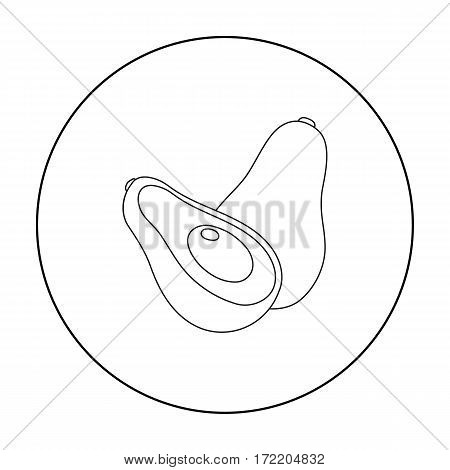Avocado icon outline. Singe fruit icon from the food outline.