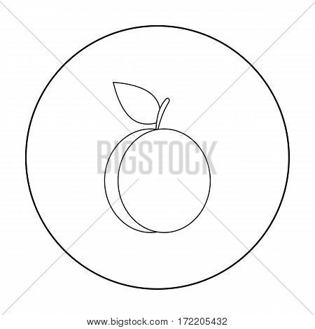 Plum icon outline. Singe fruit icon from the food outline.