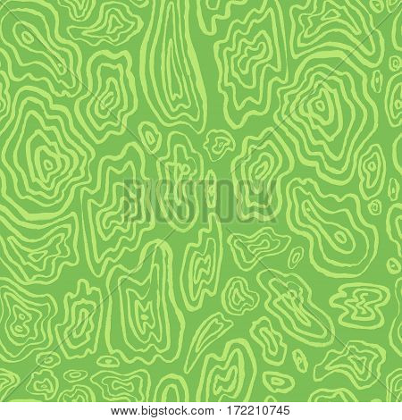 Abstract seamless pattern. Hand drawn artistic ink curves. Green colors background. Design element for textile and wrapping paper