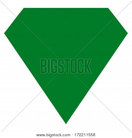 Diamond flat icon. Vector green symbol. Pictograph is isolated on a white background. Trendy flat style illustration for web site design logo ads apps user interface.