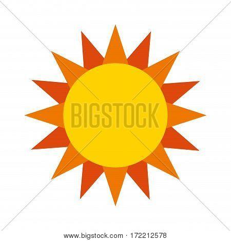 cute sun isolated icon vector illustration design