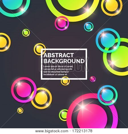Modern abstract geometric background. Vector template for text page for the presentation.