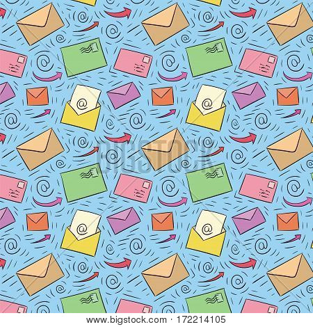 Colored Seamless Email Pattern