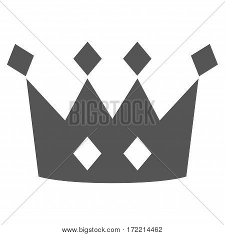 Crown flat icon. Vector gray symbol. Pictograph is isolated on a white background. Trendy flat style illustration for web site design logo ads apps user interface.
