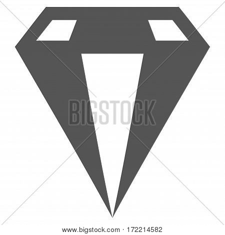 Diamond flat icon. Vector gray symbol. Pictograph is isolated on a white background. Trendy flat style illustration for web site design logo ads apps user interface.
