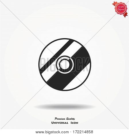 CD or DVD icon. Compact disk vector simbol.