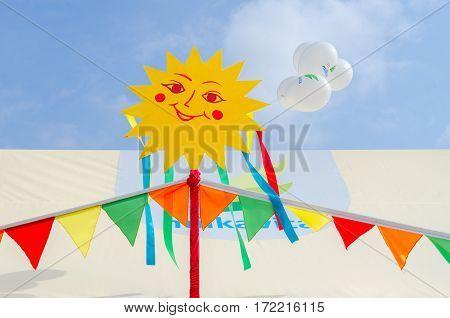 GOMEL BELARUS - MARCH 12 2016: Market stall of JSC