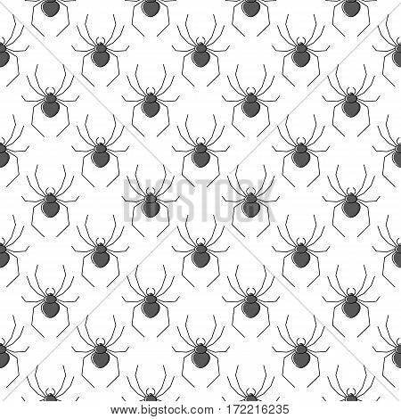 Spiders vector seamless pattern for textile design, wallpaper, wrapping paper or scrapbooking.