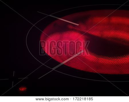 Hot, Heated To A Red Spiral Electric Furnace