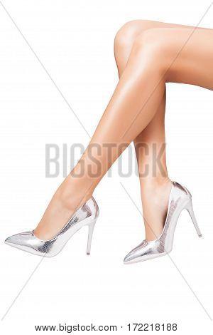 Perfect Luxury Shoes On Elegant Legs