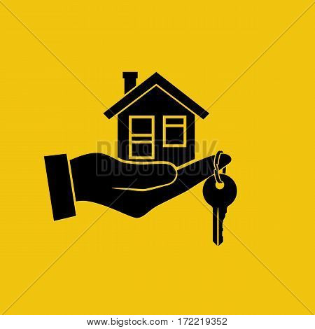 House Key In Hand Icon.