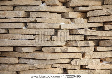 Stone Brick Wall Backgound Texture