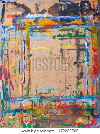 Art Abstract Grunge Graphic Background. With Different Color Patterns