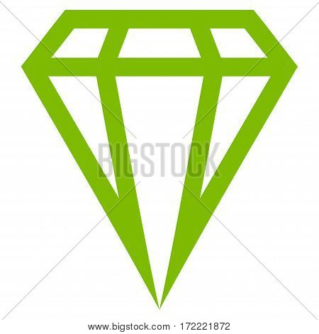 Gem flat icon. Vector light green symbol. Pictogram is isolated on a white background. Trendy flat style illustration for web site design logo ads apps user interface.