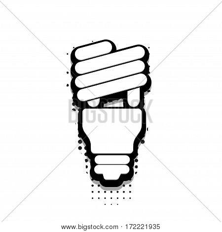 Vector modern halftone idea icon on white background