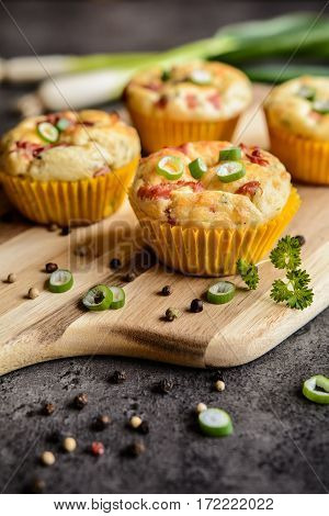 Salty Bacon Muffins With Onion