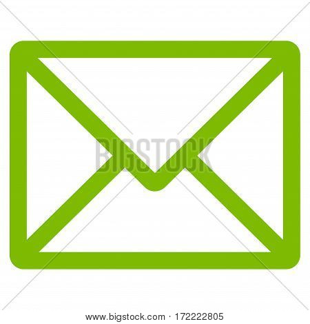 Letter flat icon. Vector light green symbol. Pictogram is isolated on a white background. Trendy flat style illustration for web site design logo ads apps user interface.