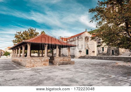 Local Church In Village Blato On Korcula In Croatia, Mediterranean, Europe