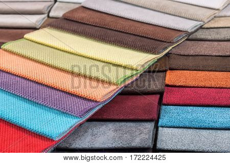 Color samples of the upholstery fabric in the assortment