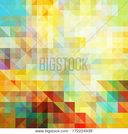 Vector multicolor abstract background of Multicolored triangles and squares