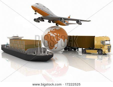 tipos de transporte de transporte são as cargas.