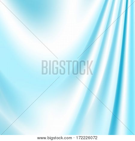Blue silk fabric for backgrounds mesh vector illustration