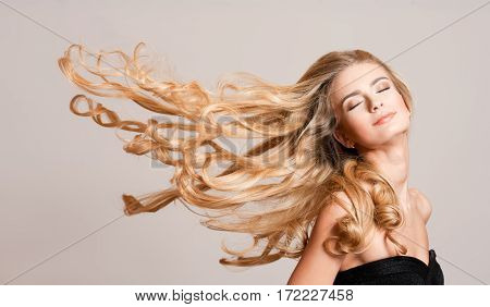 Blond Beauty With Healthy Hair.