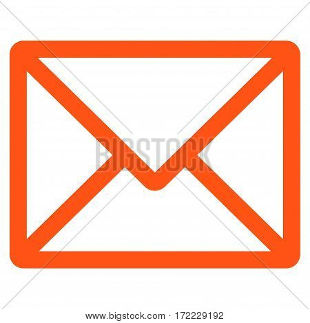 Letter flat icon. Vector orange symbol. Pictograph is isolated on a white background. Trendy flat style illustration for web site design logo ads apps user interface.