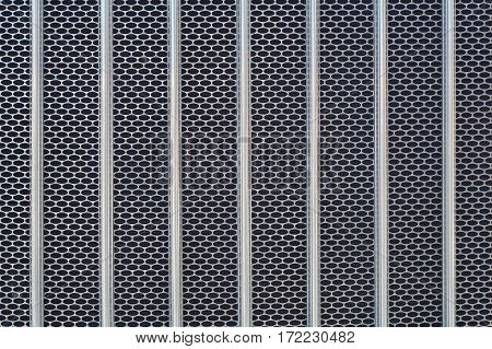 metal grid chrome truck front radiator texture