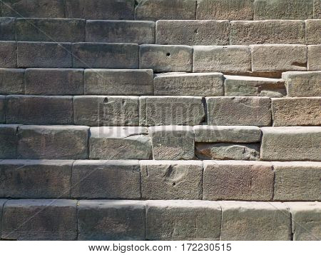 Ancient Cobblestone Stair to the Khmer Temple in Phanom Rung Historical Park, Thailand