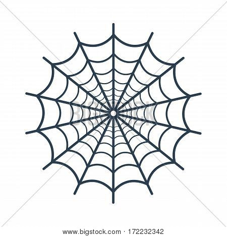 Spider Web Icon On White Background.