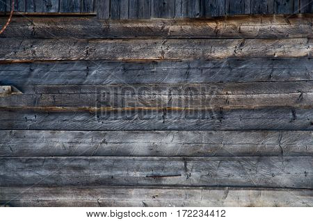 Wooden wall background old house vintage structure