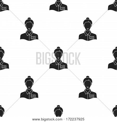 Museum guide icon in black style isolated on white background. Museum pattern vector illustration.
