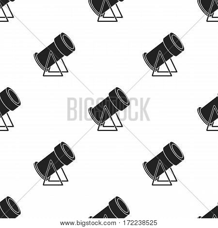 Snow cannon icon in black style isolated on white background. Ski resort pattern stock vector illustration.