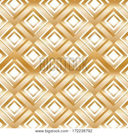 Gold Modern Pattern with Rhombuses.