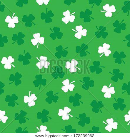 vector illustration of shamrock seamless background St. Patrick day