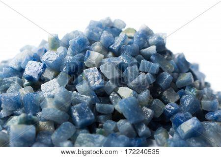 azul boquira granite, crushed granite blue on a white background