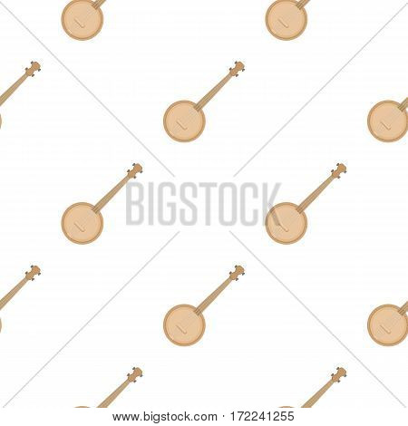 Banjo icon in cartoon style isolated on white background. Musical instruments pattern vector illustration