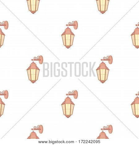 Street lantern icon in cartoon style isolated on white background. Light source pattern vector illustration
