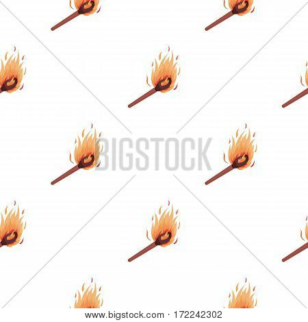 Match icon in cartoon style isolated on white background. Light source pattern vector illustration