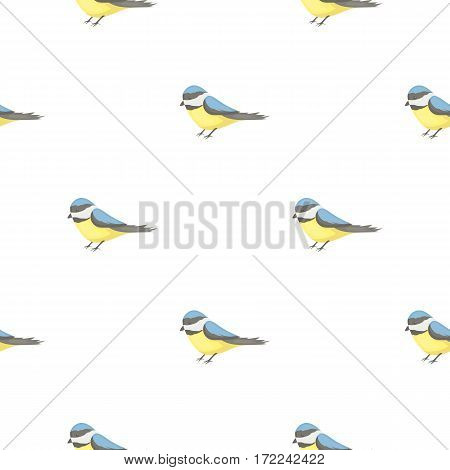 Parus icon in cartoon style isolated on white background. Park pattern stock vector illustration.