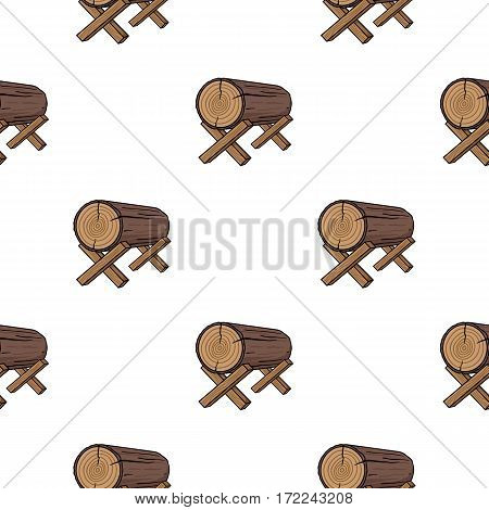 Goats for sawing icon in cartoon style isolated on white background. Sawmill and timber pattern vector illustration.