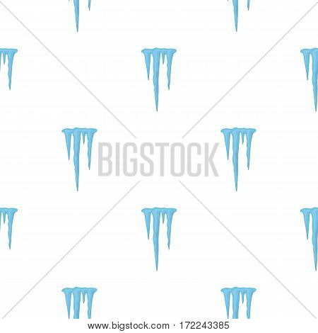 Icicles icon in cartoon style isolated on white background. Weather pattern vector illustration.