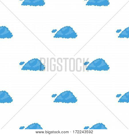 Cloud icon in cartoon style isolated on white background. Weather pattern vector illustration