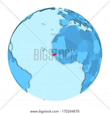 Guinea-bissau On Globe Isolated