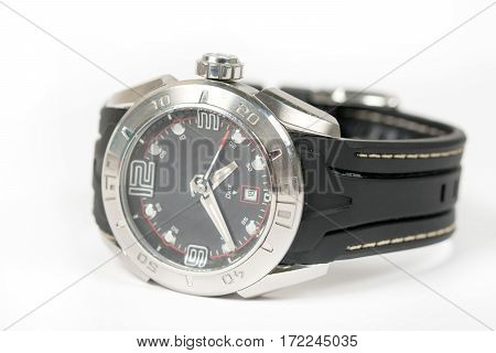 Sports Wrist Watch Isolated Over White Background