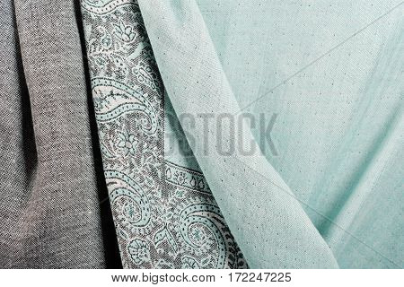 Indian pashmina shawl with pattern can be used as background