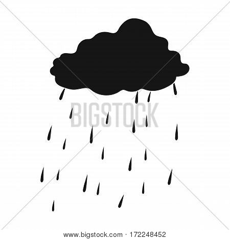 Scottish rainy weather icon in black design isolated on white background. Scotland country symbol stock vector illustration.