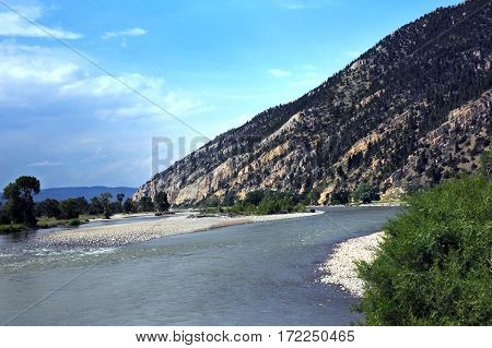 Curving Yellowstone River