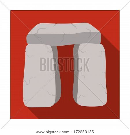 Scottish stone monument icon in flat design isolated on white background. Scotland country symbol stock vector illustration.